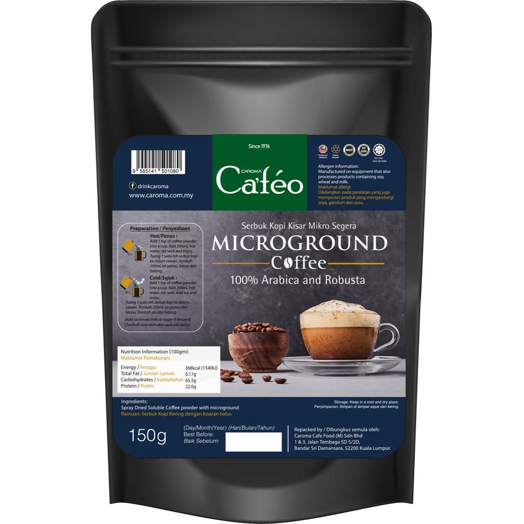 [CAROMA]  Premium Microground Brew Coffee/ Pure Coffee Powder/150g/ Arabica + Robusta Beans Mixed/Halal/No sugar/Kopi O