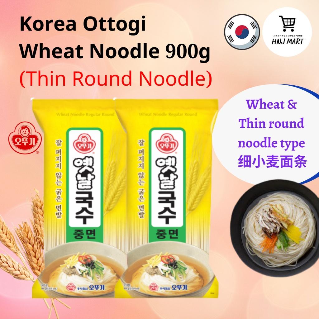 Korea Ottogi Wheat Noodle 900g (Thin Round Noodle) Somen Somyeon 韩国不倒翁小麦面条(细面条)