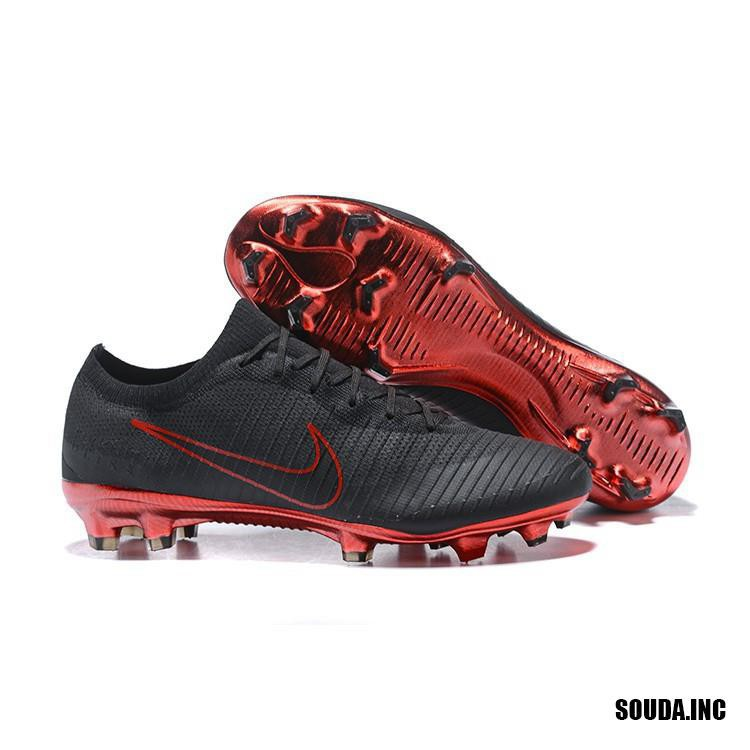 finest selection 4fbd2 9366a Original Nike Mercurial Vapor Flyknit Ultra XI FG Men Cleats Soccer Shoes  Black/