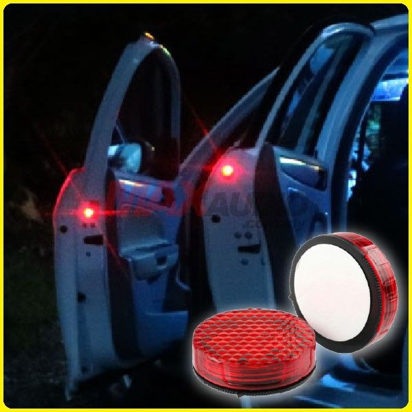 [FREE Gift] [CLEARANCE] Super Bright Wireless Door Red LEDAnti Collision Warning Safety Flashing Lights (Pair)