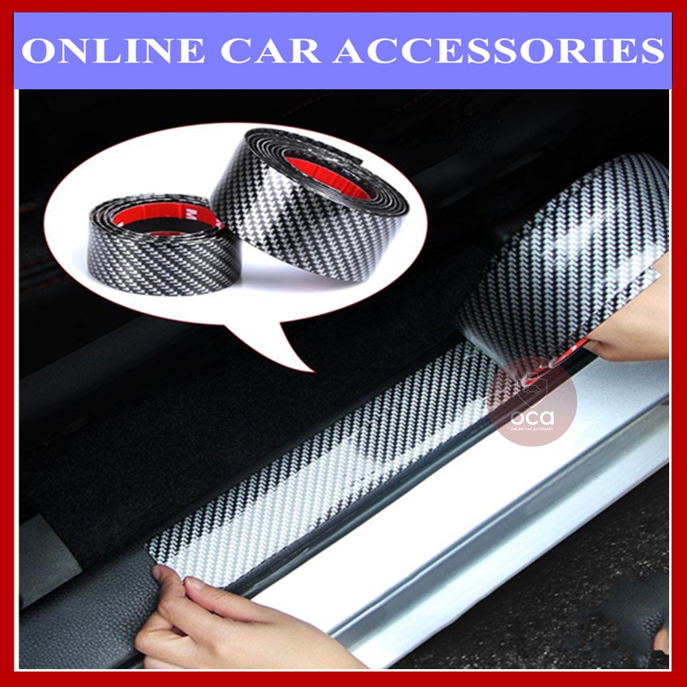 Car Stickers 5D Carbon Fiber Rubber Styling Door Sill Protector (6.5CM,9.5CM) For All Car Model