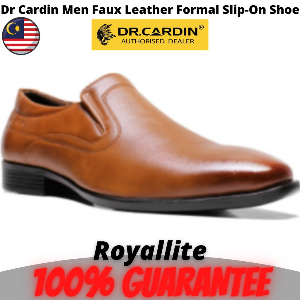 Dr Cardin Men Faux Leather Formal Slip-On Shoe (YOC-6152) Brown