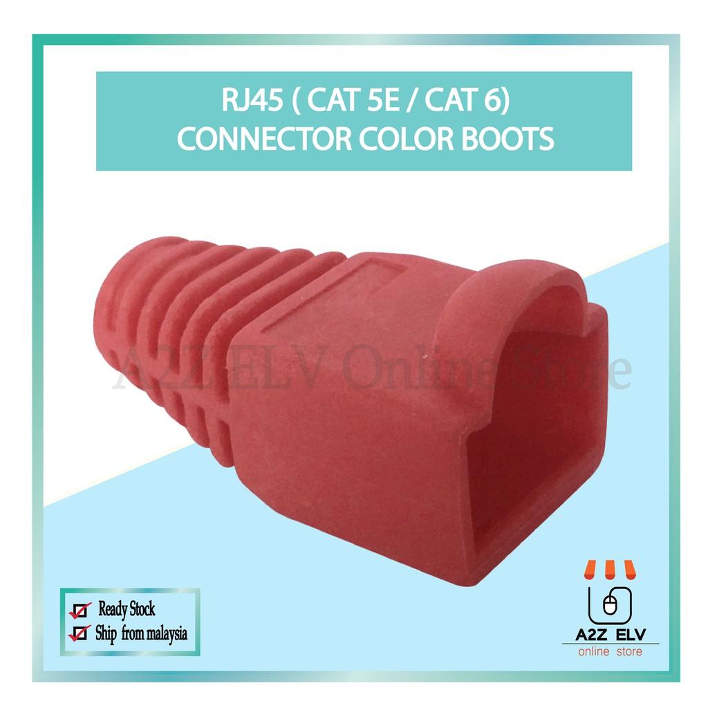 Cat 5E / Cat 6 - RJ45 Connector Color Boots -1 Pack 100 UNIT c/w RED color
