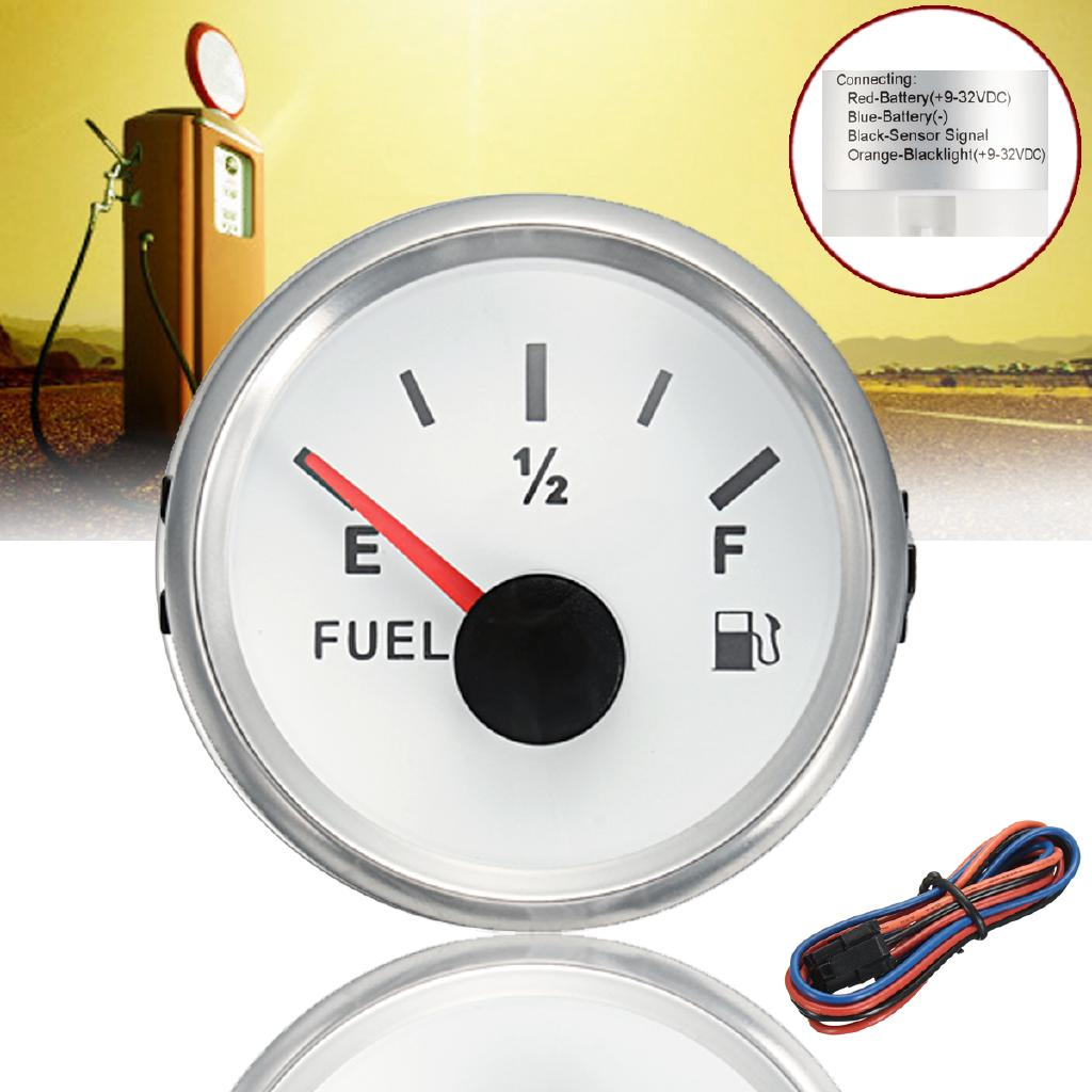 Auto Car Boat Fuel Tank Level Gauge Background Light+Line Set