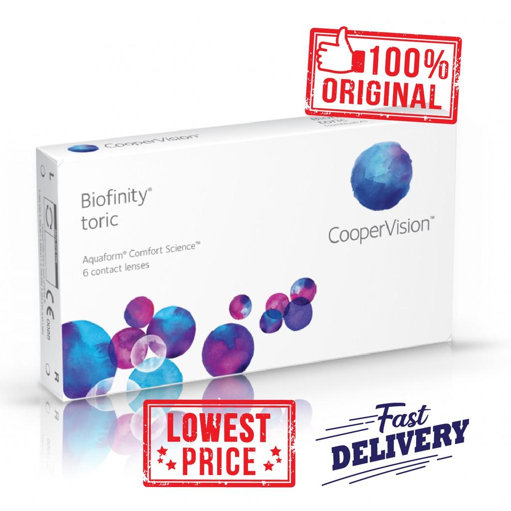 überlegene Leistung neues Hoch am besten bewertet neuesten Biofinity Toric Monthly Contact Lens (6 lenses/box)