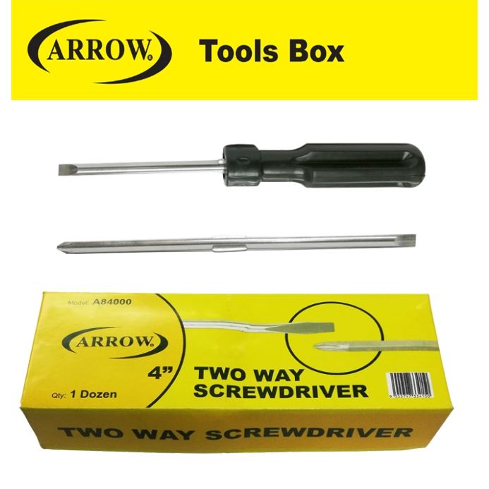 ARROW A84000 TWO WAY SCREWDRIVER EASY USE SAFETY GOOD QUALITY