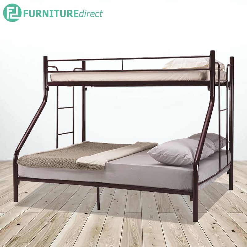 Furniture Direct TRIO bunk bed/ double decker/ single over queen bunk bed/ katil besi