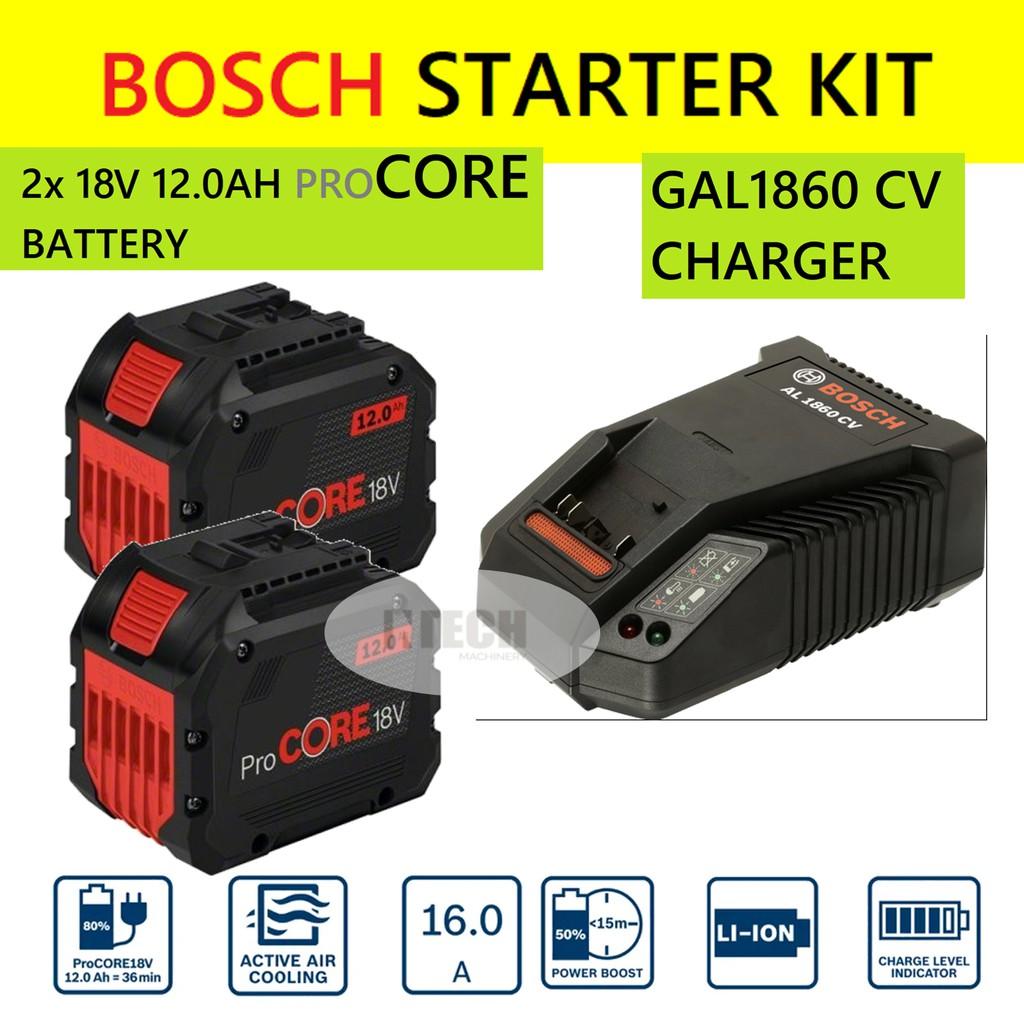 Ladegerät GAL1880CV Bosch Starter-Set 1x Akku GBA 18 Volt 3,0 Ah