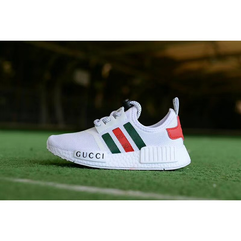 cheap for discount 1e159 93a17 【ready stock】original Adidas nmd x gucci white black bee women/men running  shoes