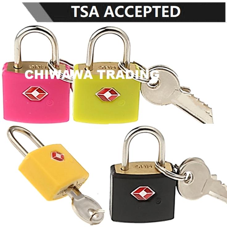TSA Approved Security Customs Luggage Padlock Travel Bag Suitcase Cable Key Lock + 2 Keys