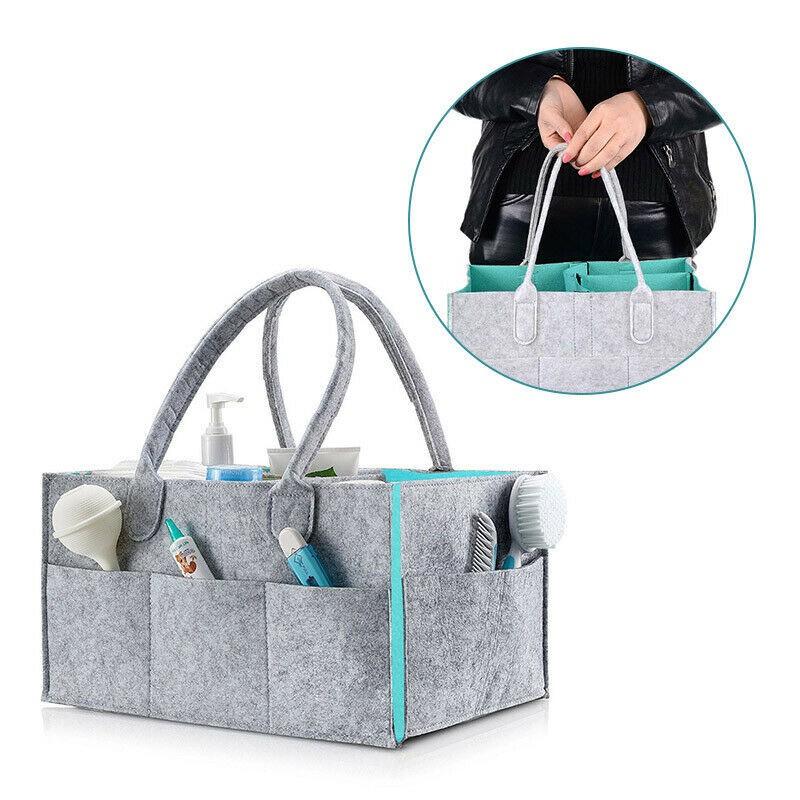 Felt Baby Diaper Caddy Nursery Storage Wipes Nappy Bags Organizer Container UK