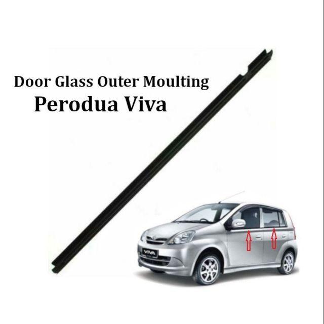ORIGINAL DOOR GLASS MOULDING PERODUA VIVA