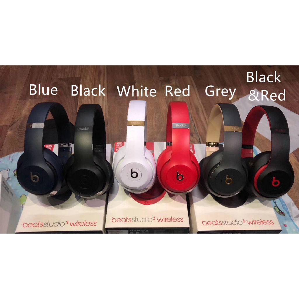 New Beats Studio 3 Wireless Over Ear Headphones Shopee Malaysia