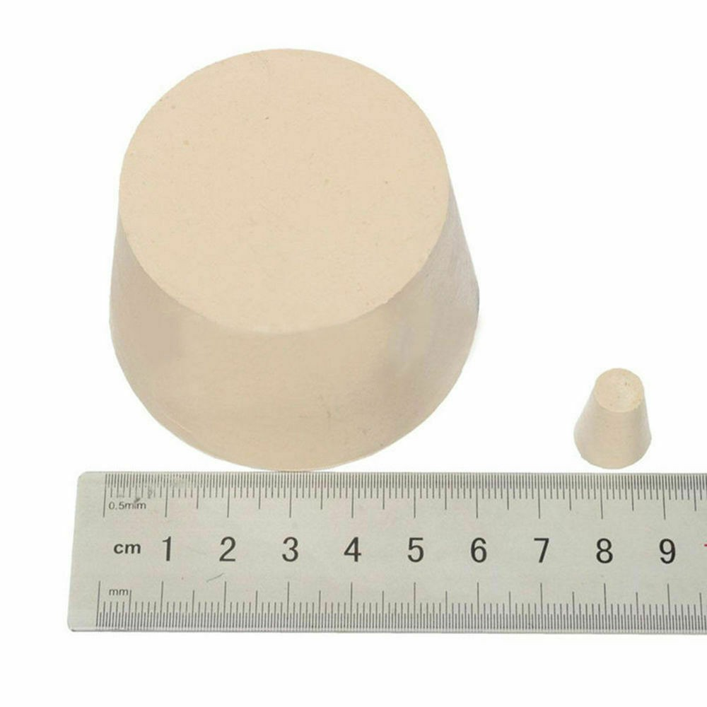 Rubber Stopper Bottle Tapered Bung Test Tube Laboratory Water Pipe Sealing Plugs