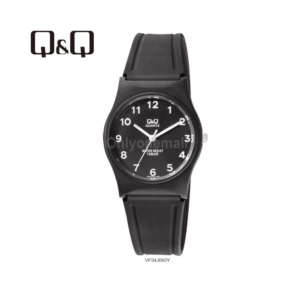 Q&Q VP34J060Y Ladies 33mm Casual Analogue Watch 100m Water Resistance