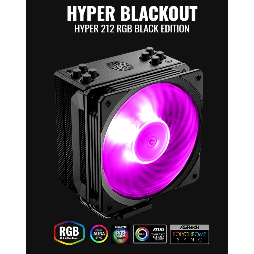 # Cooler Master HYPER 212 RGB BLACK EDITION - Intel/AMD CPU Cooler #