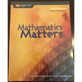 Mathematics Matters Textbook Sec 1 (Normal Academic