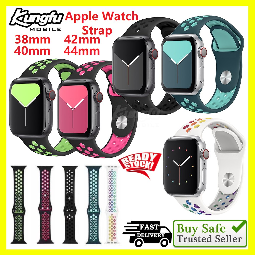 Apple Watch Strap 38(40)mm 42(44)mm Sport Silicone Band for iWatch Series 5/4/3/2/1