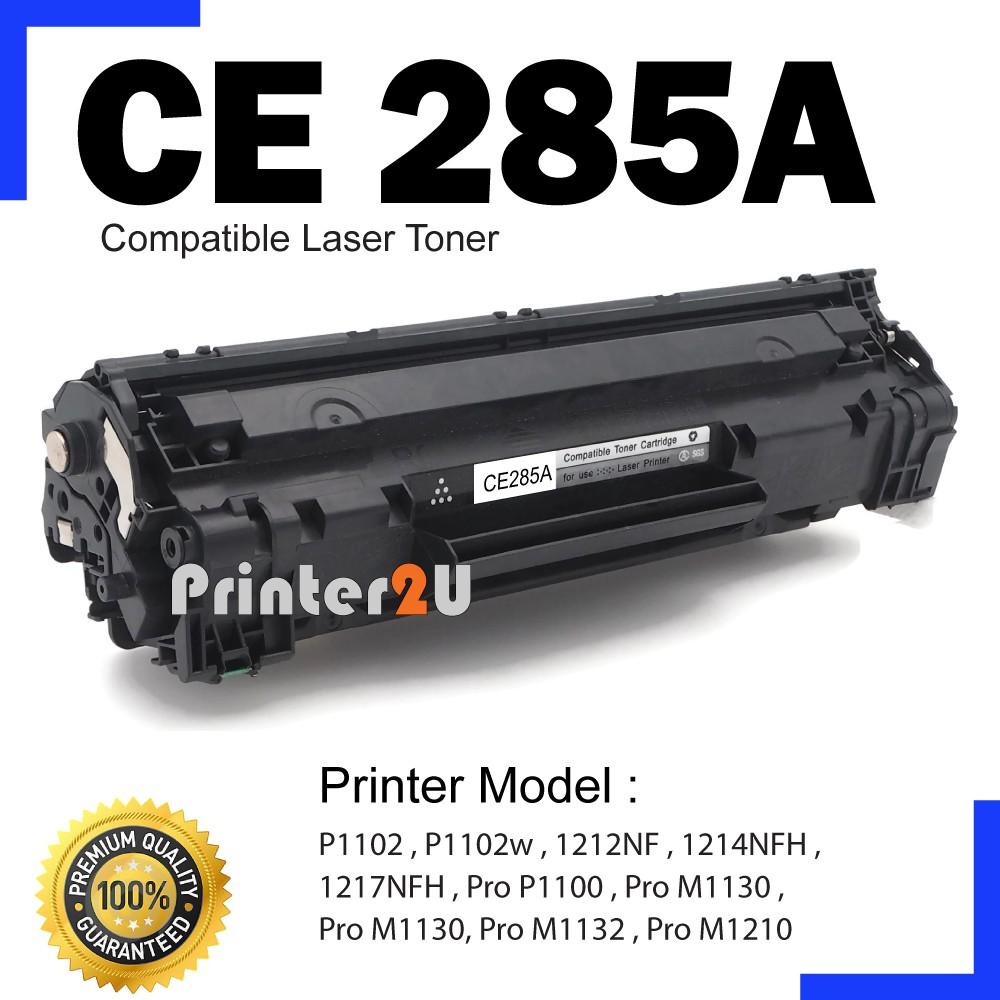Ce285a 85a Ce285 A Hp Compatible P1100 P1102 P1102w M1130 M1132 Toner Cartridge Printer Laserjet M1212nf M1217nfw Shopee Malaysia