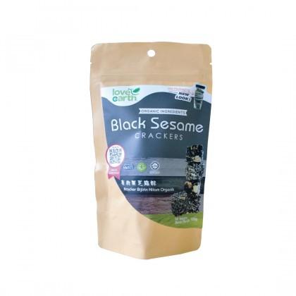 Love Earth Black Sesame Seed Crackers  有机黑芝麻酥 120g