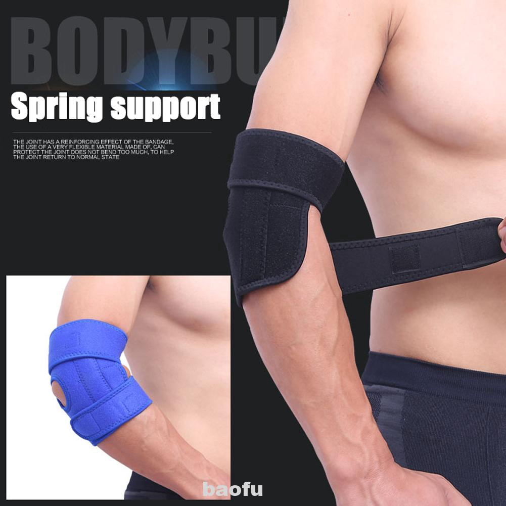 2 PCS Elastic Elbow Support,Sponge Soft And Breathable Elbow Warmth Sleeve White
