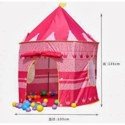 Blue Prince/Pink Princess Castle Kids Play Tent