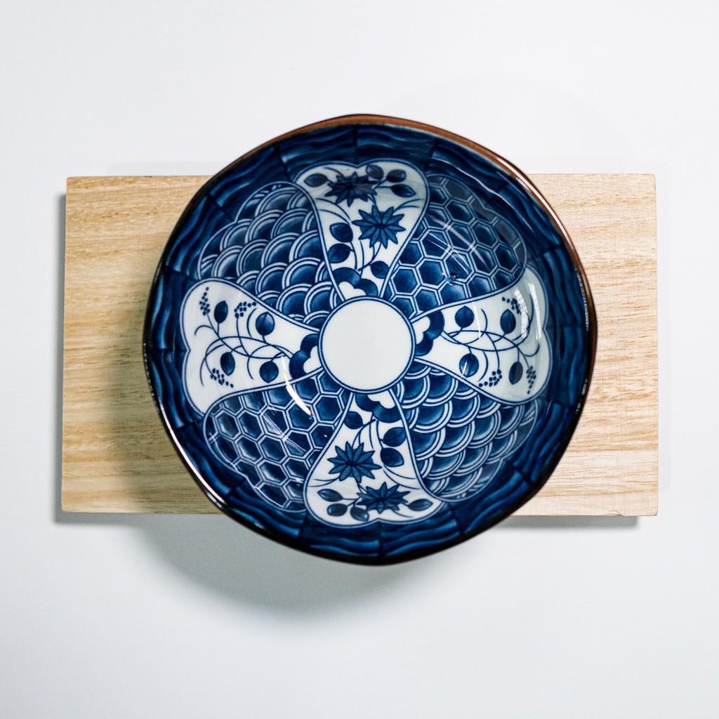 13cm Japanese-style Blue And White Porcelain Ceramic Soup Bowl Dining Bowl Mangkuk Household Underglaze Color 日式古典风