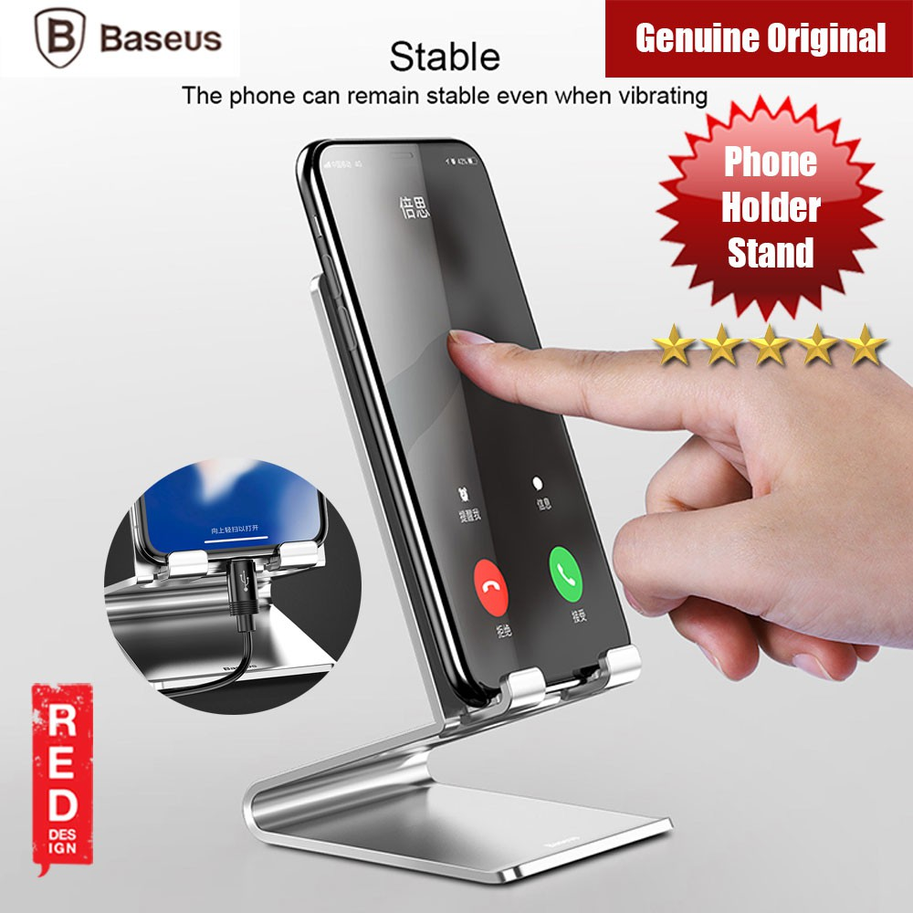 Baseus Mobile Smartphone Holder Metal Desk Stand Silver