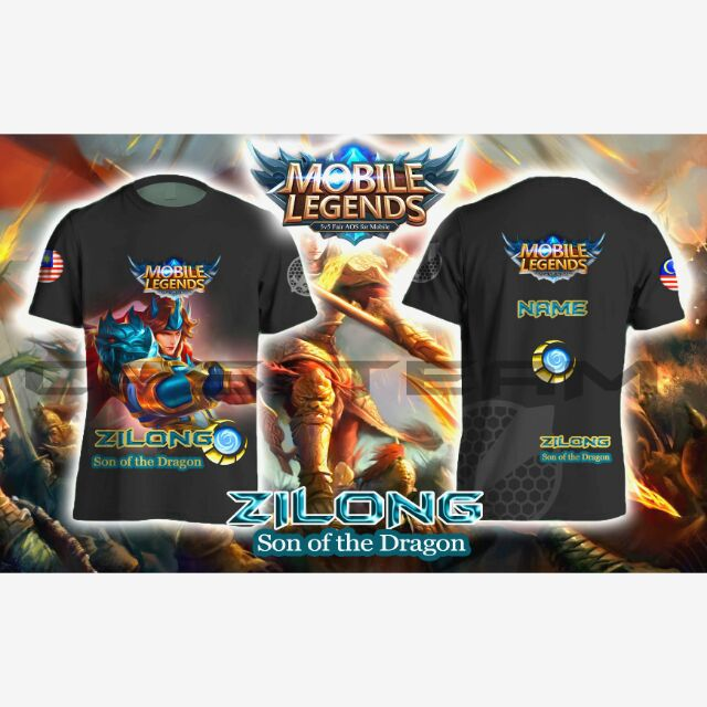 Mobile Legends Mpl Inspire Jersey Hero Character Bang Bang Shopee