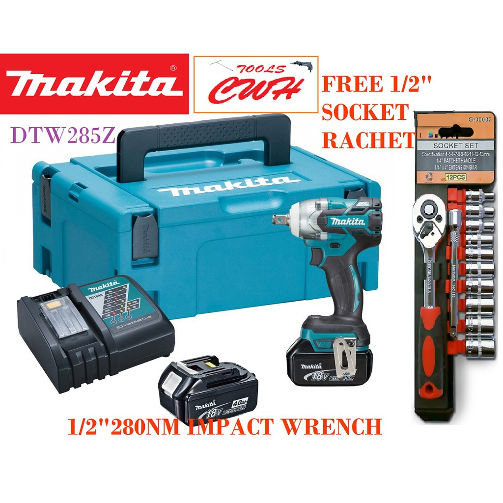 280NM MAKITA DTW285Z 18V CORDLESS BRUSHLESS IMPACT WRENCH DTW DTW285RME DTW285Z