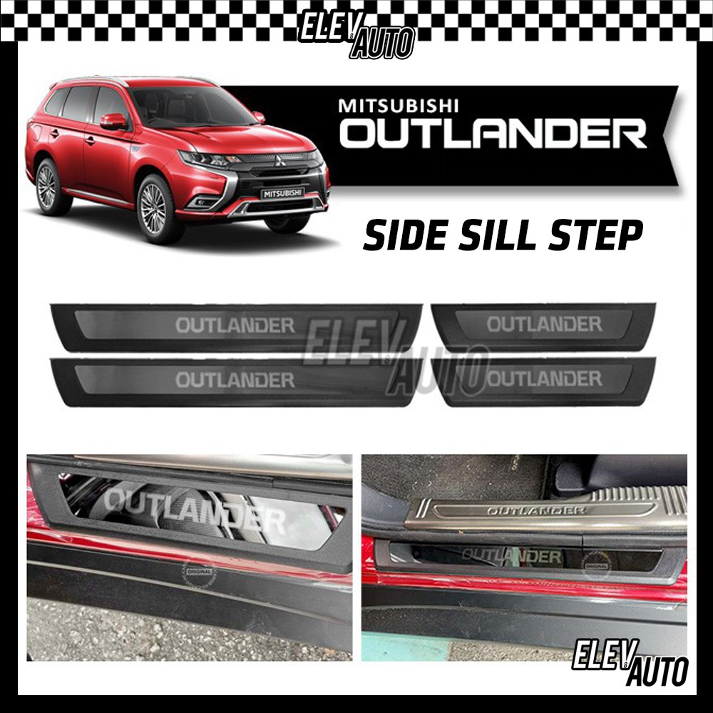 Mitsubishi Outlander 3-TONE Side Sill Plate Door Protector