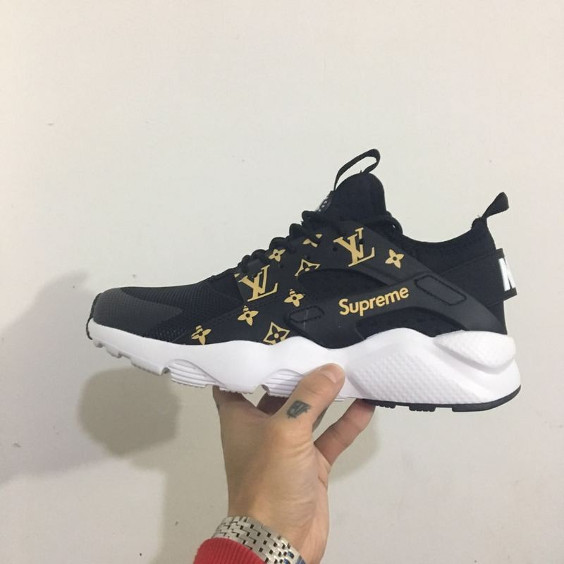 low priced a5097 e9d19 Nike Air Supreme x LV x Huarache men/women running shoes color black