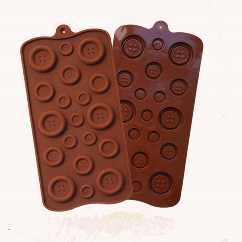 Food Grade Silicone Material, Button Shape For Chocolate Handmade Mold