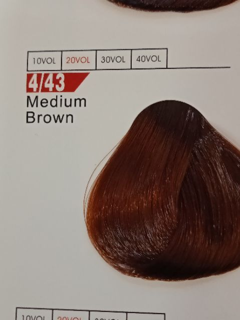 Fabaole color (Medium Brown.4/43) 100ml foc peroxide cream 100ml(Medium Brown.4/43)