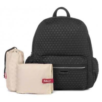 Babymel: Luna Ultra Lite Backpack - Black Scuba