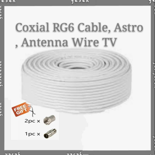 Coxial RG6 Cable, Astro,Antenna Wire TV, MyTV, TV box