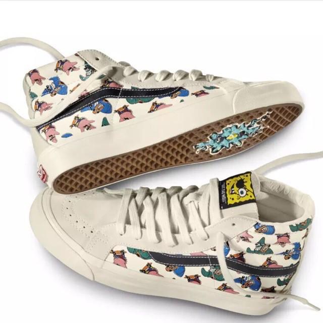 5f73eaea6d Vans OG Authentic LX Spongebob Yellow/Black Men Sneakers | Shopee Malaysia