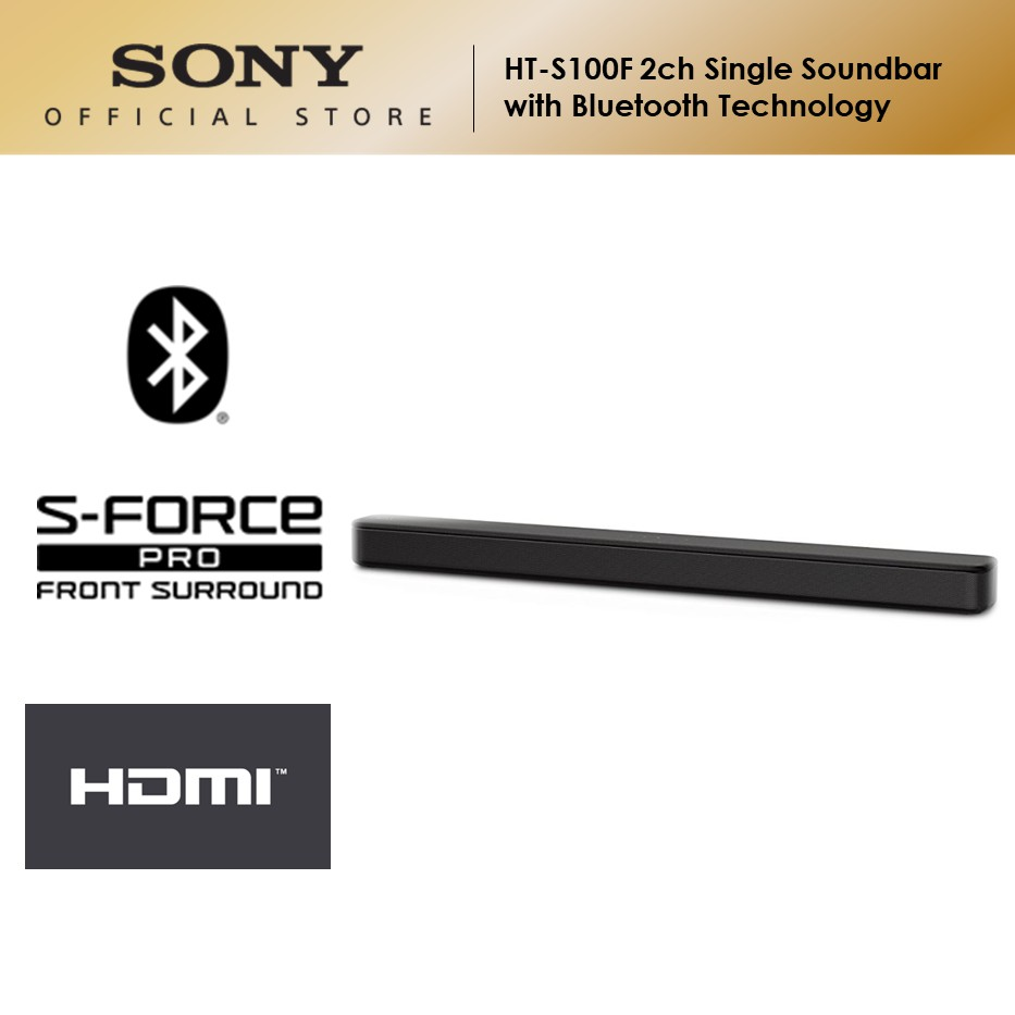 Sony HT-S100F 2ch Single Sound Bar with Bluetooth Technology