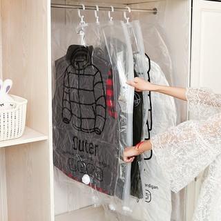 58831f326414 Plastic Transparent Dust Cover Garment of Clothes Hanging Pocket ...