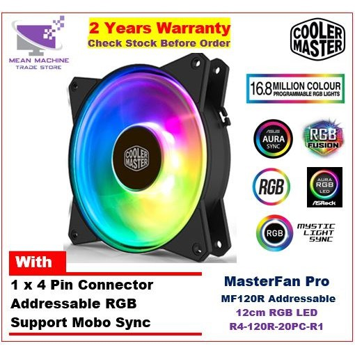 #Cooler Master Masterfan MF120R Addressable RGB 12cm Hybrid Fan#