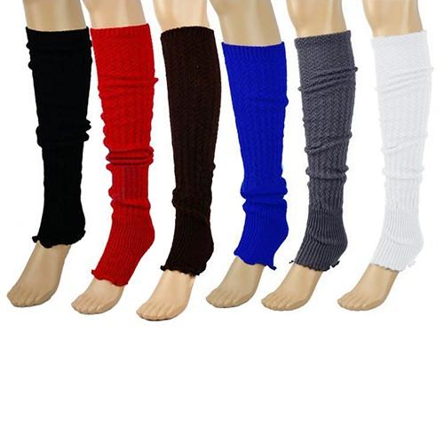 Women/'s Knitted Leg Warmers Socks Stocking Finger less Long Gloves 6 Colors