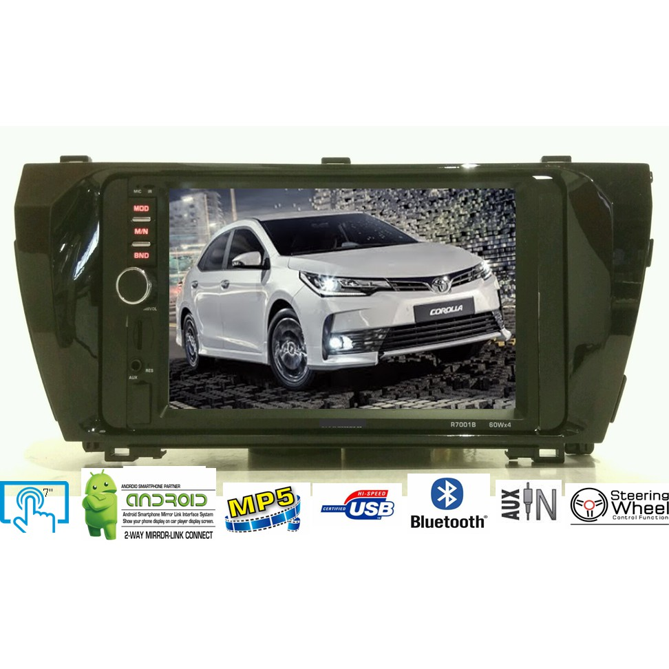 LEON Toyota New Altis 7 Mirror Link MP4 MP5 MKV USB Bluetooth Player  2014-2018