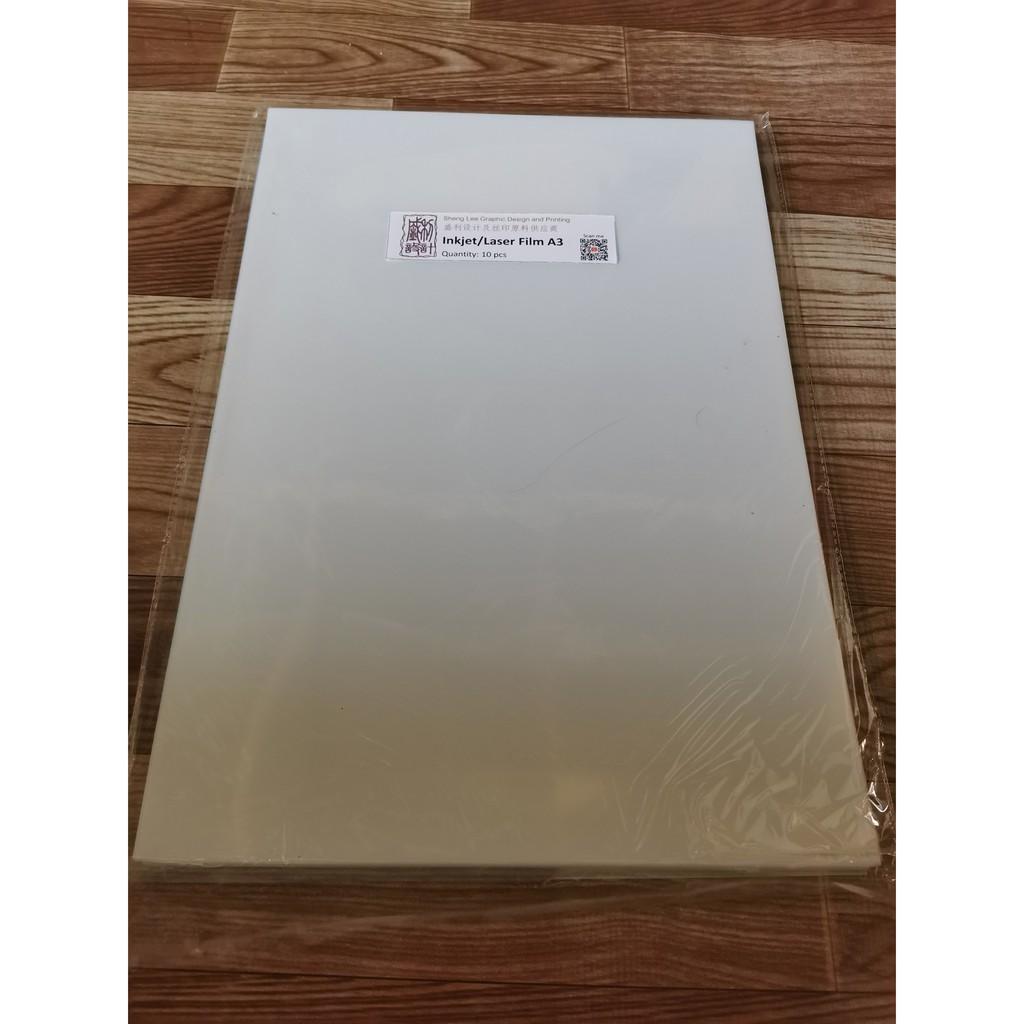A3 Inkjet / Laser Plotting Film (10 pcs)