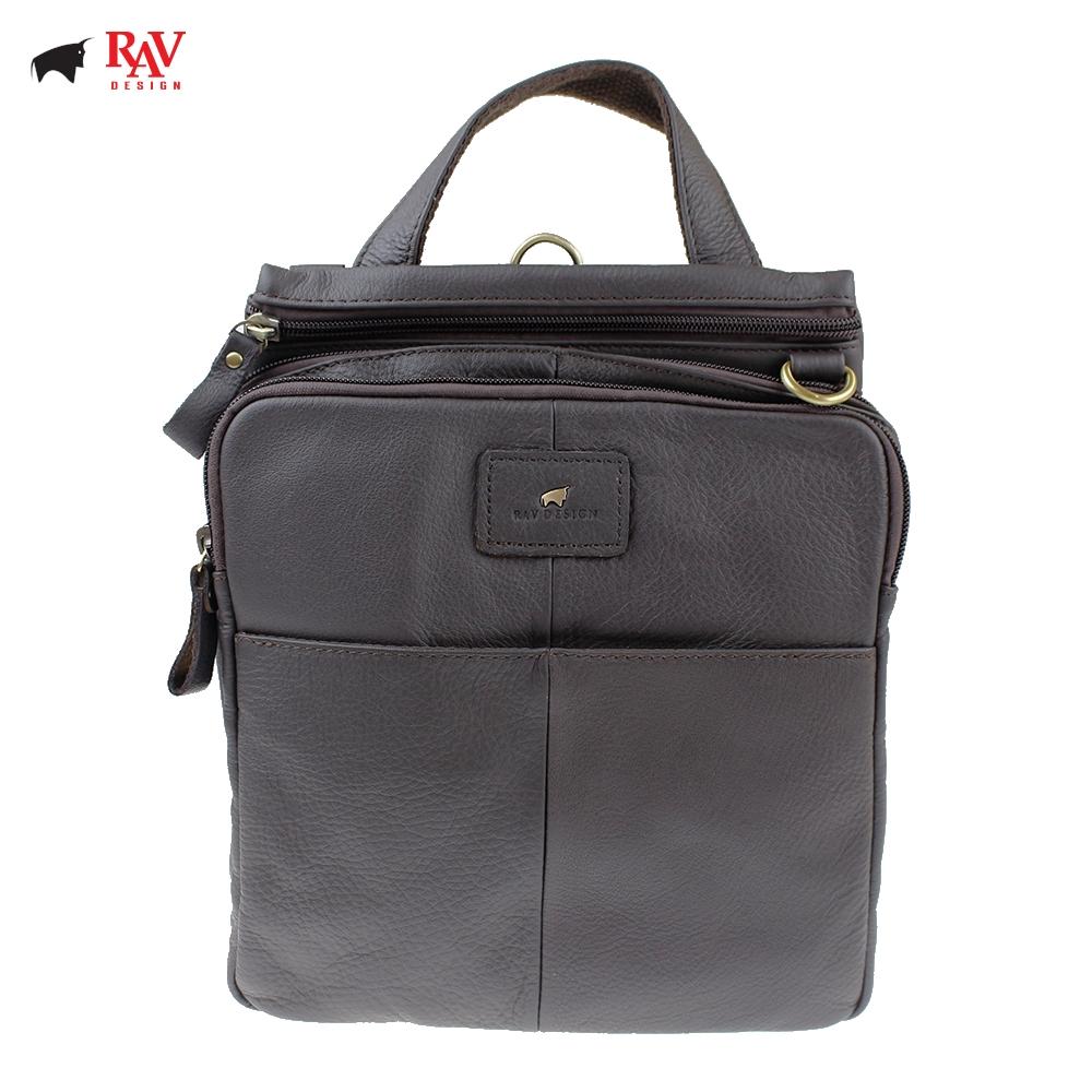 RAV DESIGN 100% Genuine Cow Leather Sling Bag Dark Brown |RVC464G1
