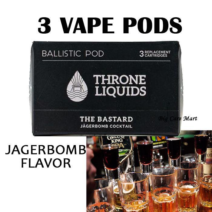 Ballistic Vape Pods Throne Bastard Jagerbomb 35mg 3pc