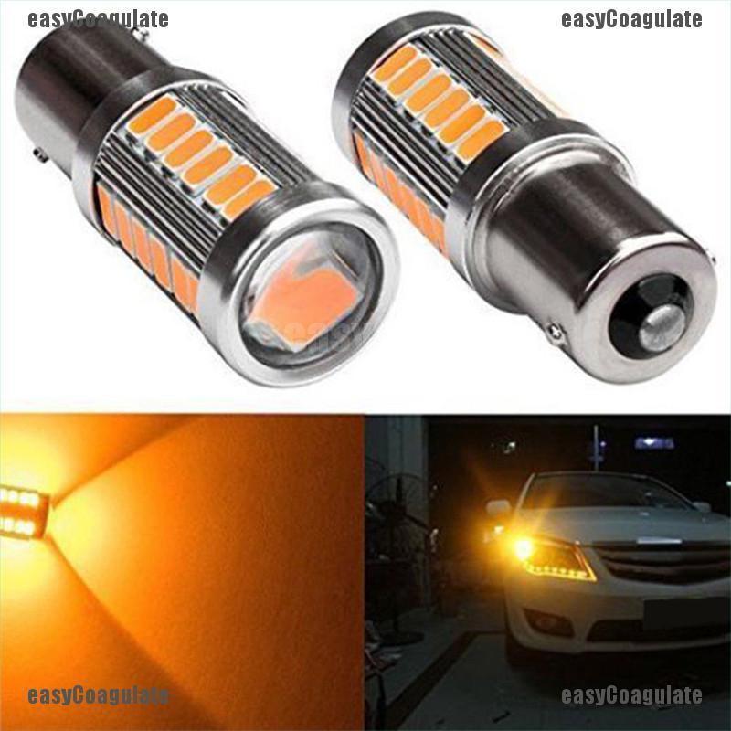 2X White P21W 1156 BA15S Cree 33 LED Bulb 5730 SMD Super Bright Car Light Lamp