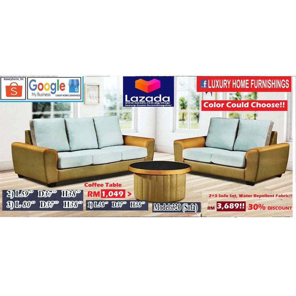 Sofa Set,  Water Repellent Fabric, 2+3, Export Series, RM 3,689!! ENJOY 30% DISCOUNT!!