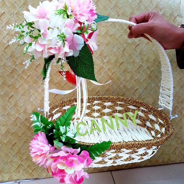 🌸💐 Bakul Hantaran size M siap Gubah dengan Bunga 🌷🌹