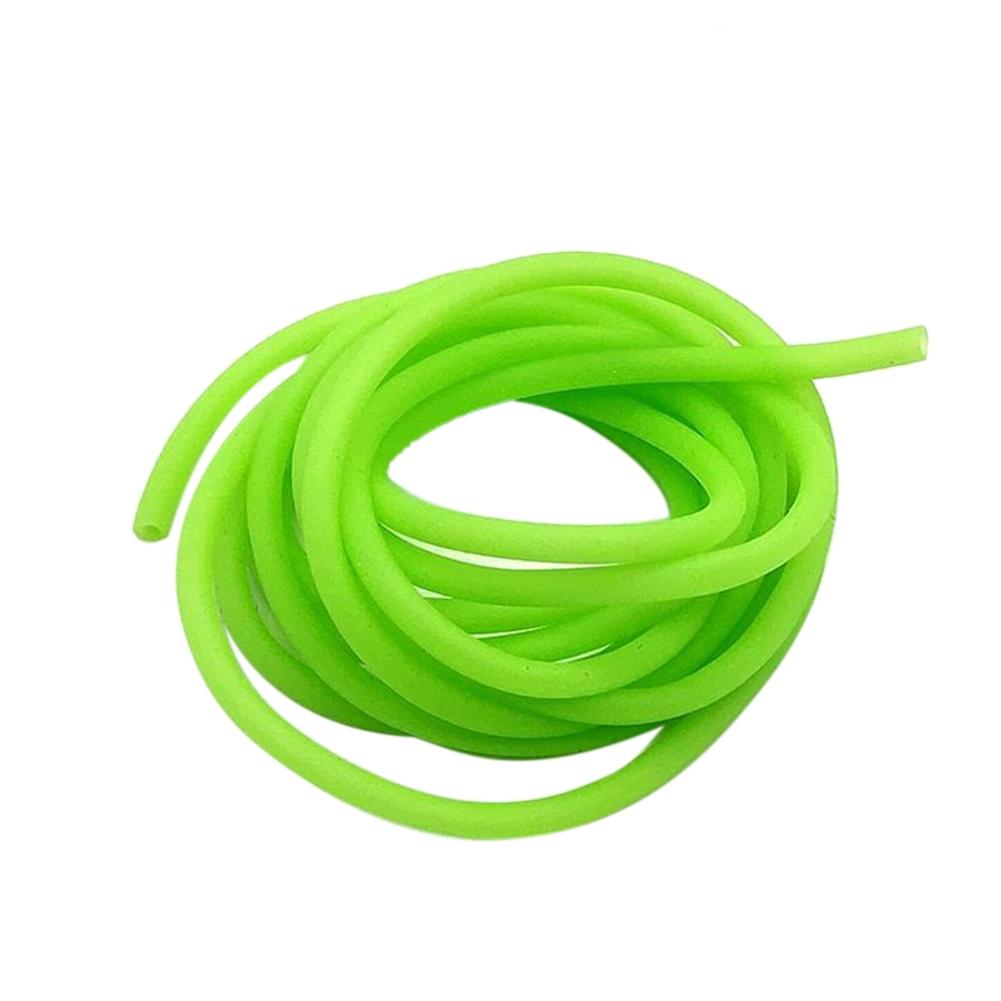 2mm Diameter Silicone Light Luminous Line Glow Tubing Fishing Wire Rope Green 2M