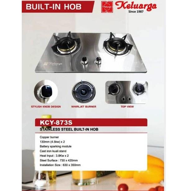Keluarga Stainless Steel Built-In Gas Cooker Gas Hob (KCY-873S)